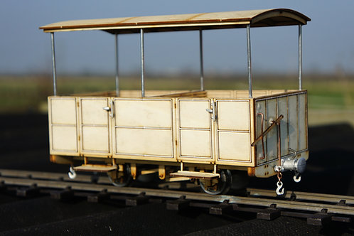 16 mm scale GVT Early Third Class Open Two Compartment Carriage