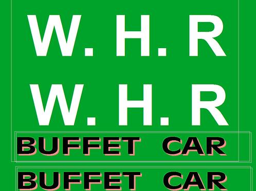 Welsh Highland Railway Buffet Coach Decals £6.00 per set