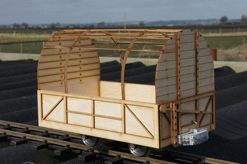16mm Scale Darjeeling 4 Wheel Luggage Wagon Kit