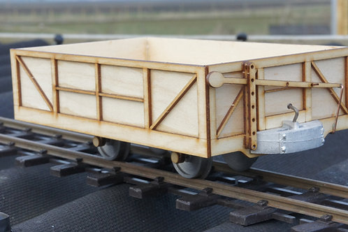 16mm Scale Darjeeling 4 Wheel Open Goods Wagon Kit