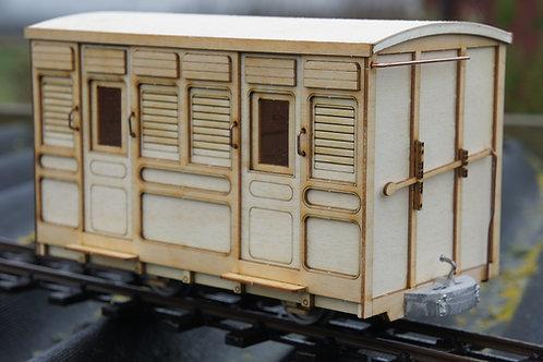 Darjeeling 2nd gen 3rd Class Low Roof Passenger 4 Wheel Coach Kit