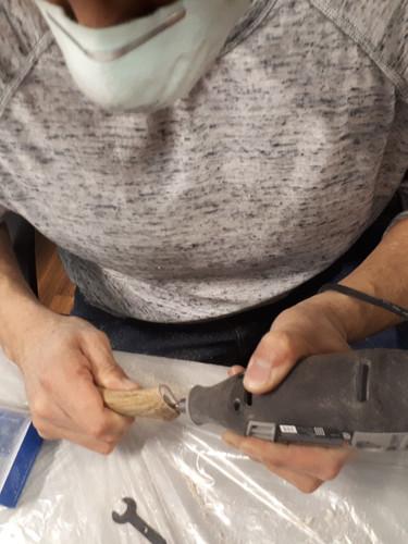 More Antler bone knife handles