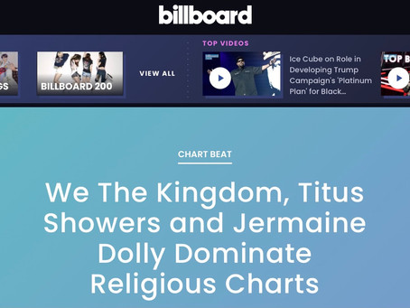 "TITUS SHOWERS HITS #1 ON BILLBOARD GOSPEL AIRPLAY CHARTS WITH ""IT'S GONNA BE ALRIGHT""!"