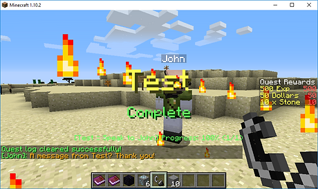 Quest Completion GUI