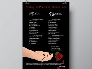 """This poster was created to represent the content of the poem """"Richess"""" by creating a mood and visual a representation of the poem."""