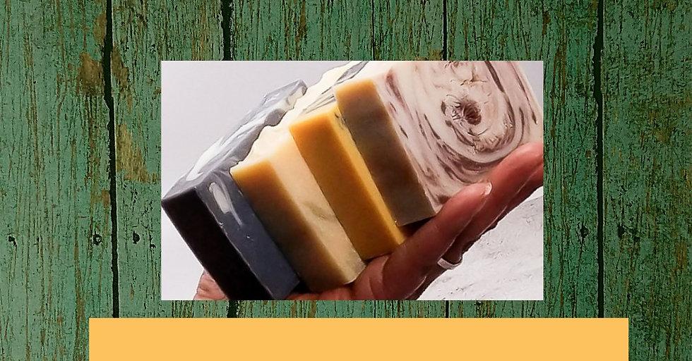 4 handmade soaps from Aromariss