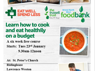 Bookings now open for January 2018 Eat Well Spend Less Course
