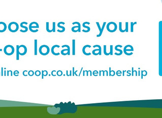 Help us raise funds choose us as your Co-op Local Cause