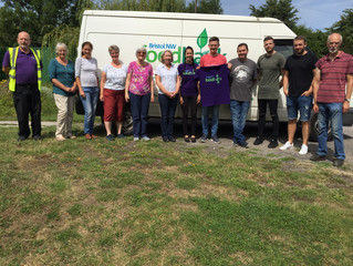 Co-op Avonmouth CDC volunteers help with stock take