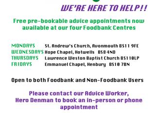 Foodbank Advice Service