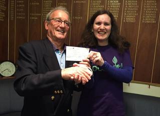 Portishead Bowls Club Donation