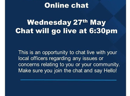 An invitation to chat online to Staffordshire Moorlands Police