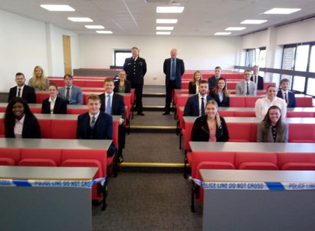 New student police officers welcomed to the classroom