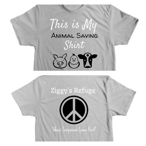 "Official Unisex Ziggy's Refuge ""This is My Animal Saving Shirt"" Tee!"