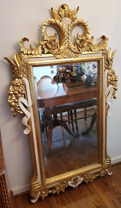 Wood Gold Gilded Mirrors (2)