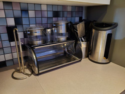 Stainless Bread Box & Canisters