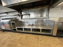 SS Cook Area with Hood Fan