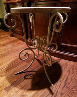 Marble Top Wrought Iron Table 2
