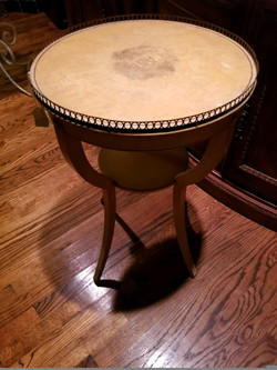 French Round Side Table