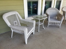 Wicker Chairs & Table 1