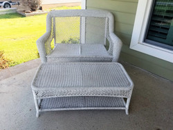 Wicker Bench & Table 1
