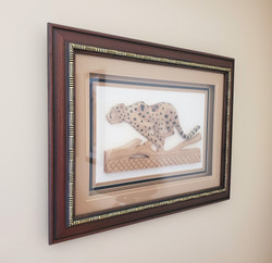Boocoo Designs Cheetah Framed Picture