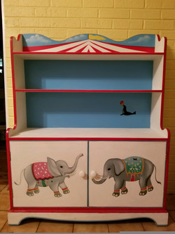 Vintage Hand-painted Child's Bookcase