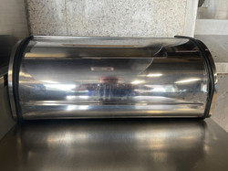 Stainless Steel Bread Box Closed