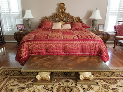 King BR Bed & Night Stands