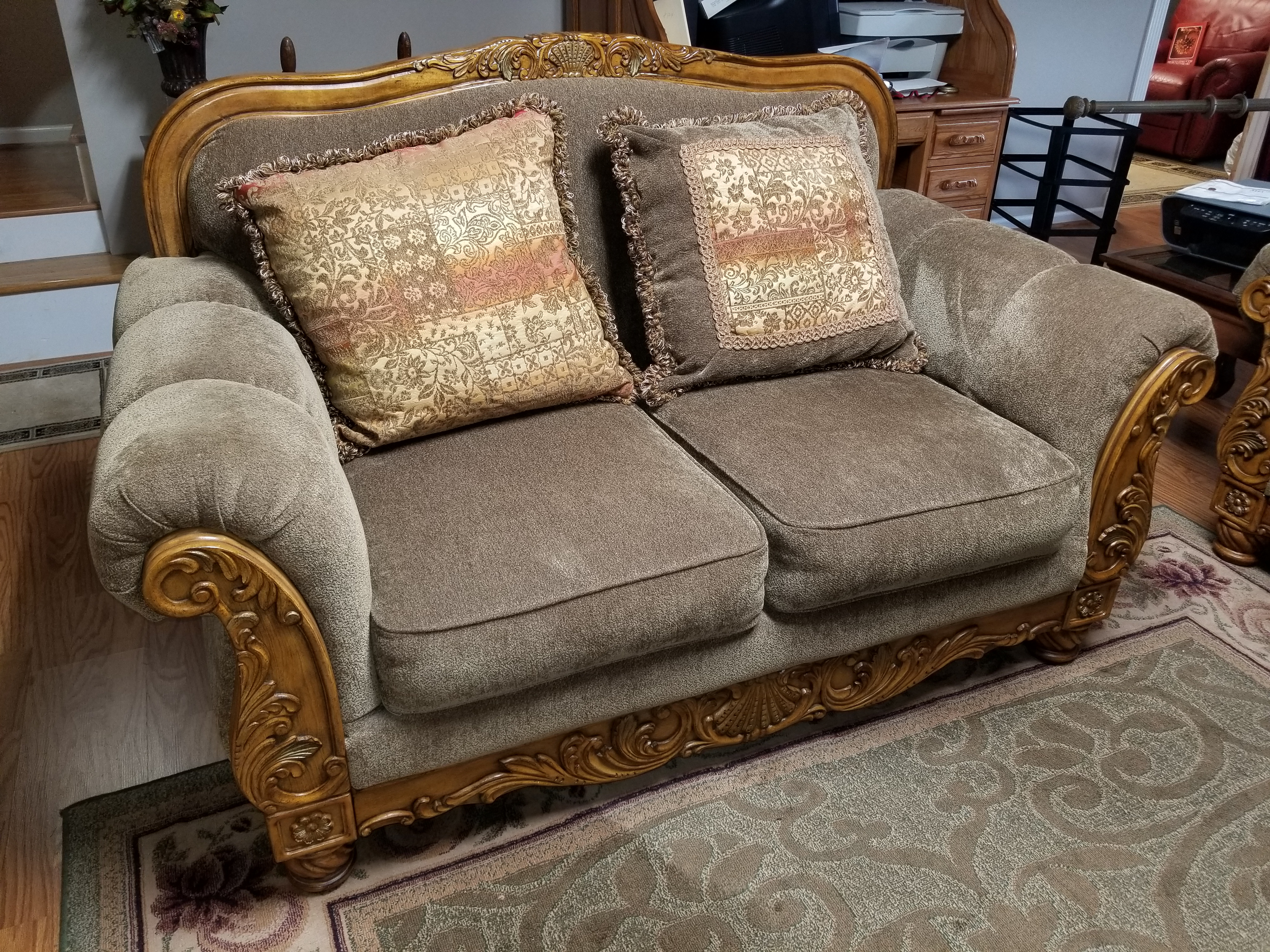Antique Style Love Seat