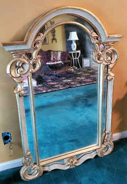 Large Arch Gold Mirror