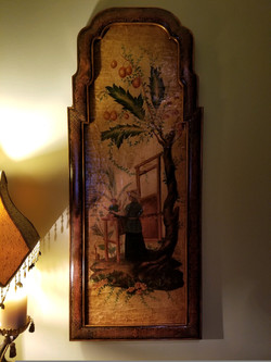 Hand-painted Asian Wall Décor 1 of 2