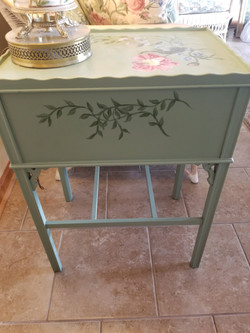 Hand Painted Side Table w Drawer 1