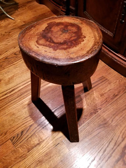 Solid Cherry Stools (2)