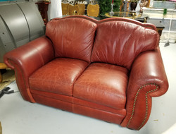 Red Leather Love Seat