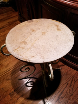 Marble Top Wrought Iron Table 1