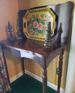 Early Game Table & Antique Painted Tray