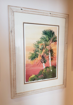 Framed Palms Picture