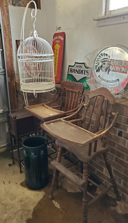 High Chairs, Bird Cage, & Misc.