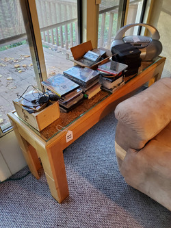 Sofa Table. CDs & DVDs