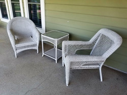 Wicker Chairs & Table 2