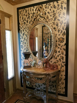 Gold Gilded Console Table & Mirror