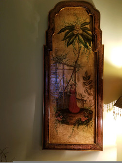 Hand-painted Asian Wall Décor 2 of 2