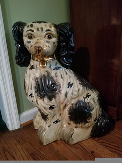 """24"""" Staffordshire Style Ceramic Dogs 2 of 2"""