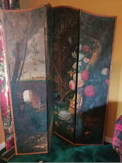 Hand-painted Double Sided Screen