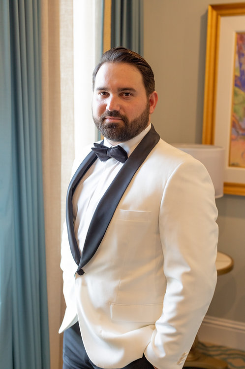 DINNER JACKET WITH BLACK LAPEL