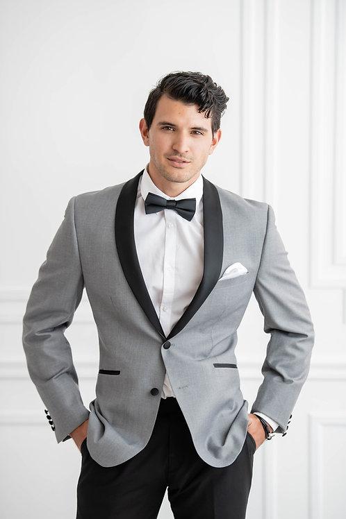 Grey Shawl Tuxedo Jacket