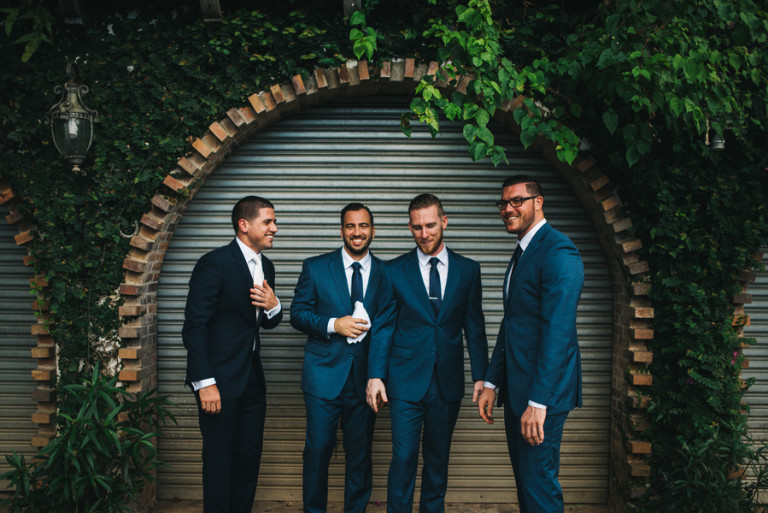 Groomsman in blue suits