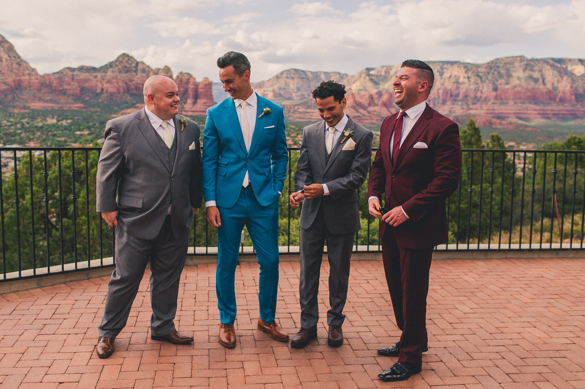 Groomsman in suits
