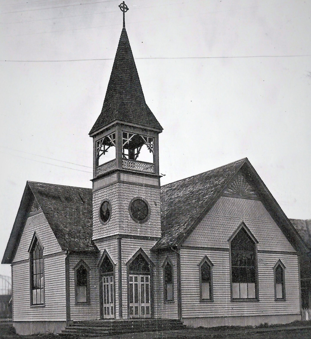 Early picture of C.R.Methodist Church